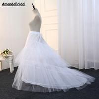 Amandabridal 2 del aro de hueso de la sirena de la enagua de la boda elástico para la boda de la enagua de la crinolina de la enagua nupcial 2020 barato