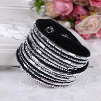 20 Colors Trendy Women Fashion Leather Wrap Multilayer Wrist...