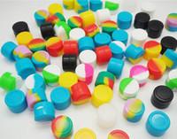 Anti-adhésive cire conteneurs silicone boîte 5 ml silicone récipient alimentaire grade pots dab outil de stockage pot huile support pour vaporisateur vape approuvé par la FDA
