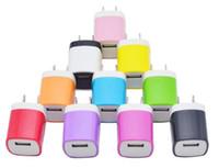 빠른 충전 5V 1A 다채로운 홈 플러그 USB 충전기 아이폰 5 6 7 s6 s7에 대 한 전원 어댑터