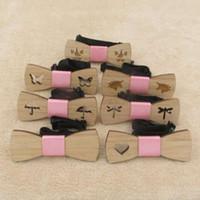 Pajarita de madera de bambú Pajaritas de madera para niñas Corbatas de fiesta de corbata de mariposa Gravatas Corbatas para mujer Corbatas de madera