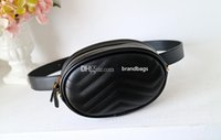 Free Shipping! Design Waist Bag Black cowhide Heart waist Ba...