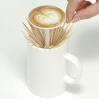 Toothpick Holder Box Coffee Cup Shaped Automatic Retractable...