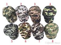 8-colore Uomini caldi e donne sicure moda camuffamento berretto da baseball da baseball occhiali da sole da donna uniformi da uomo cappello cappello m005