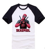 Uomini Deadpool Design Tshirts Estate 3D colori stampati Patchwork T-shirt a maniche corte