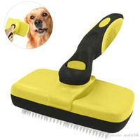 Pet Grooming Brush Comb Dog Cat Self Remove Cleaning Slicker...