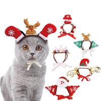 Navidad tocado para mascotas Halloween sombrero de la venda variedad de accesorios del perro del gato divertido partido Headwear Cosplay tocado