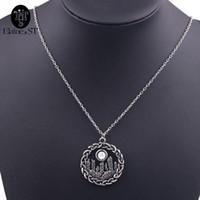 Vintage Outlander колье ожерелье круг узел подвески ожерелья белый кристалл ожерелье женщины заявление ожерелье