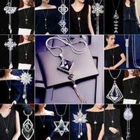 أزياء أنيقة سترة سلسلة طويلة كريستال سنو قلادة قطرة الماء الاكسسوارات شرابة الديكور قلادة مجوهرات للنساء هدية