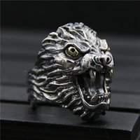 925 sterling silver ring vintage exaggerated personality dom...