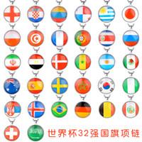 Nationalflagge Halsketten Brasilien Deutschland Belgien Mexiko Peru Panama Fußballspiel Halsketten Schmuck Zubehör Anhänger Halskette