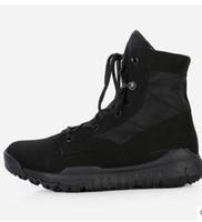 الربيع الصيف الرجال أحذية الكاحل القتالية الخفيفة مريحة ذكر التكتيكات الأحذية الصحراء الأحذية العسكرية أحذية زائد الحجم 38--44