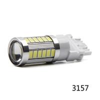2X High Quality 3157 3156 Super-33 SMD 5730 LED Blinker Weiß P27W T25 Auto Birnen-Weiß-P27 / 7W Auto Lichtquelle Lampe