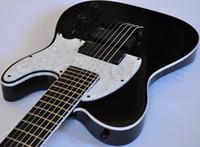 ООО SCT-607В Стивен Карпентер Подпись 7 Strings черный электрической гитары TL Строка Thru Body Bridge, Copy Пассивный EMG Пикапы, 9В батареи Box