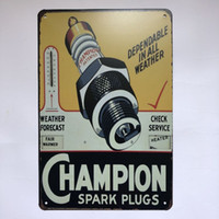 Champion Spark Plug Vintage Rustic Home Decor Bar Pub Hotel ...