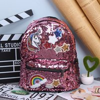 Fashion Korean Girls Backpack Children School Bags Sequins U...
