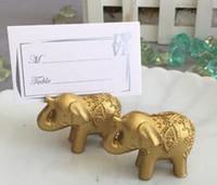 Or et argent Lieu titulaire de la photo titulaire de la table de mariage décoration décoration faveurs éléphant ananas cloche 6 style