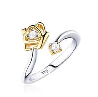 Forma elegante Corona Anillos de diamantes Joyas de Cristal Anillos Abiertos Para Mujeres Regalos Bonitos Día de la Madre Envío Gratis