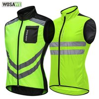 WOSAWE Motorcycle Reflective Vest High Visibility Motocross Riding Off-Road Safety Vest Night Running Giacca sportiva da ciclismo