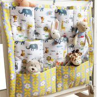 3 teile / los Bett Hanging Set Tasche Baby Kinderbett Organizer Kindergarten 55 * 60 cm Baumwolltasche Marke Wickel Spielzeug Krippe Für Aufbewahrung Bettwäsche Cralv