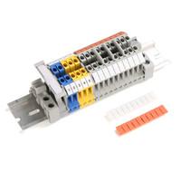 100PCS ZB8 Blank Din Rail Terminal Blocks Maker Strips Label white for UK-6N