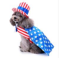 Filhote de cachorro de natal do traje do dia das bruxas roupas de festa de aniversário do cão traje vestido com tampas chapéu engraçado pet inverno quente vestuário cães casaco roupas