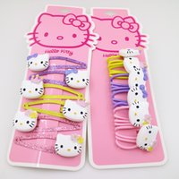 6 lots gift hello kitty hair clip hairpin children girls Ela...