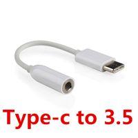 """Adattatore da porta audio tipo C da 3,5 mm per cavo audio da 3,5 mm Usb 3.1 Presa AUX da 3,5 """"tipo C per Xiaomi 6 Mi6 Letv 2 Pro 2 Max2"""