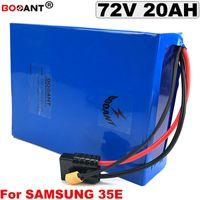 72 v 20Ah Elektrikli Scooter Samsung 35E 18650 hücre için Lityum Pil E-bisiklet Lityum pil Bafang için 72 V BBSHD 1500 W Motor