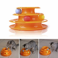 Komik Pet Kedi Oyuncak Zeka Üçlü Oyun Disk Köpek Kedi Oyuncak Topları Üç Katmanlı Pençe Topu Pet Malzemeleri