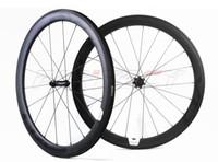EVO 700C 50MM عمق 23MM عرض 23MM / أنبوبي الطريق دراجة العجلات مع إيفو مستقيم سحب محور الكربون عجلات مع ud ماتي التشطيب