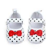 Baby Girl Shoes Toddler Infant Anti- slip Polka Dot PU First ...