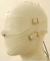 Mystérieux exotique beige blanc femmes À La Main personnaliser Cagoules Latex Masque Retour Zipper Zentai Masques Masques Capuche eyemouth couverture
