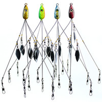 Pesca Alabama Umbrella Rig multicolore Jig capo Sea Fishing Bait Bait Lure Ganci con 5 fili girevoli
