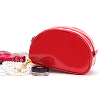 Travel Cosmetic Bag PU Makeup Case Women Zipper Hand Holding...