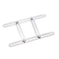 Freeshipping Metal Outil de modèle de règle multi-angle Métal Mesure tous les angles Formes Angle-izer pour constructeurs de bricolage Artisans Espacement répétitif