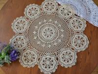 Runde HOT Coon Platz Tischset Spitze Pad Tuch gehäkelt Filz-Platzdeckchen Deckchen Schalenbecherhalter handgemachte coaster Küchenzubehör