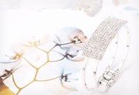 Simple bracelet de cristal de diamants de cube de conception simple
