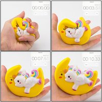 2018 Slow Rising Squishy UNICORN MOON Icecream Flash Powder ...