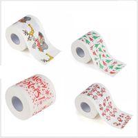 Joyeux Noël en papier toilette Rouleau de papier mignon Père Noël Motif imprimé Parti Table Décoration Matériel de vacances