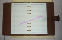 R20240 Качество пополнения 75 клетчатка Calf Canvas коричневая реальная кожа среднего кольца повестки дня верхняя версия поставляется с покрытыми страницами Checker Xdlek