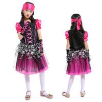 Dia das crianças Trajes de Desempenho Meninas Traje de Dança Vestidos de Princesa Ternos das Meninas Cosplay Pirata Ladrão Trajes de Halloween