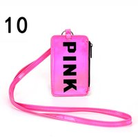 Fashion Card Holders Wallets Pink letter Laser Fashion Coin ...