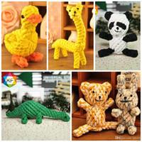 Panda Shape Dog Mastica Teether Toys Resistente all'usura Mordere Corda in cotone Pet Molars Toy Creative 7 8yf dd