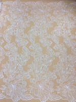 5yard African Lace Fabrics High Quality Embroidery Tulle Mes...
