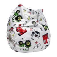 قابل للغسل القماش حفاضات الطفل غطاء مقاوم للماء الكرتون حفاضات الطفل قابلة لإعادة الاستخدام القماش الحفاض البدلة 0-2years 3-15kg