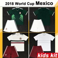 2018 Mexico Kids Football Kit World Cup Home Away CHICHARITO...