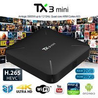 Nouveau TX3 Mini Android 7.1 TV Box 2 Go 16 Go Amlogic S905W Quad core 64 bits WiFi Smart télévision intelligente