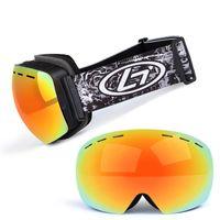 Profesyonel 2018 Yeni Kayak Gözlük Anti-sis Kaykay ve Snowboard Snowmobile Kayak Googles UV400 Snowboard Gözlük