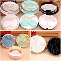 New Charm Marble Patterns Contact Lens Case with Mirror Unis...